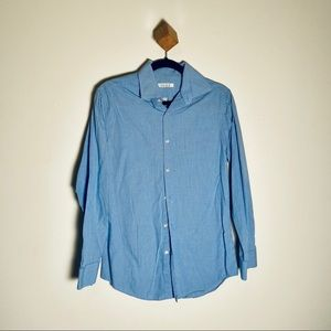 Perry Ellis Portfolio Dress Shirt Blue White